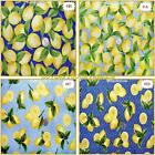 "ROBERT KAUFMAN LEMONS LEMONS FRUIT FABRICS 1/2 YD 18""X44"" (MAKE A SELECTION)"
