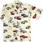 Mustang 50 Years Camp Shirt. 50th Anniversary Hawaiian Shirt of the Ford Mustang