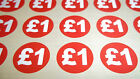 120 20mm 3/4 Inch Bright Red Price Stickers Sticky Labels Tag 9 Different Prices
