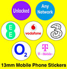 Mobile Phone Network Stickers - EE / Vodaphone / T-Mobile / O2 / 3 / Unlocked