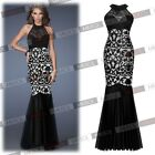 New Sexy Black Long Formal Ball Gown Pageant Maxi Gown Party Prom Evening Dress