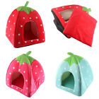 Strawberry Pet Dog Cat Bed House Kennel Doggy Warm Cushion Basket Kennel S/M/L