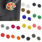 Women's Fashion Multicolor Cluster Resin Seed Beads Stud Nail Mini Earrings Set