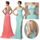 Sexy Split Designer Long Bridesmaid Formal Gowns Ball Evening Prom Party Dress