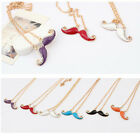 Lady Womens Beard Necklaces New Fashion Colorful Rhinestone Long Chain
