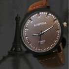 Womens Mens Wrist Watches Black Faux Leather Quartz Fashion Dress Watches