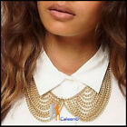 Fashion Womens Ladies Necklaces Alloy Electroplating Tassels Retro Bronze Color