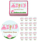 Girl Clothesline Laundry Edible Baby Shower Party Cake Cupcake Topper Decoration