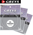 Greys Greylon Knotless Tapered Leaders - Tippets - All Sizes -  for Fly Fishing
