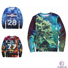 3D Tide brand Thicken Star Hip-Hop Digital Sweater Men