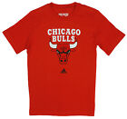 Adidas NBA Youth Boys Chicago Bulls Short Sleeve Full Color Tee T-Shirt, Red
