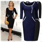 Ladies Vintage Cocktail Evening Party Business Work Casual Wear Pencil Dresses