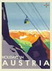 Cableway Alps Holidays in Austria Travel Tourism Vintage Poster Repro FREE S/H