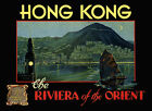 Hong Kong Riviera of the Orient Travel Tourism Vintage Poster Repro FREE S/H