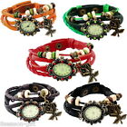 1PC New Fashion Women's Bracelet Wristwatch Rose Pendant Design Watch