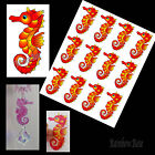 Transparent film #70 SEAHORSE 70mm RED transparency 3D for suncatcher scrapbook