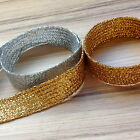 """END OF ROLL GOLD OR SILVER LUREX BRAID- 10-13 MM WIDE (Approx 1/2"""")"""
