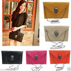 Vintage Womens Envelope Chain Pu Leather Tote Clutch Purse Shoulder Hand Bag