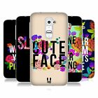 HEAD CASE FLOWERY STATEMENTS GEL BACK CASE COVER FOR LG G2 D802