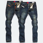 Street YOUNG Boys Men's Pants Jeans Straight Skinny Long Slim Fit Pop Trousers