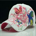 Adjustable Size  Butterfly Embroidery Mens Ladies Sun Hat Baseball Cap 4COLORS