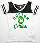 Boston Celtics Retro Touch Alyssa Milano Womens The Coop V-Neck Burnout Shirt on eBay
