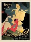 Deutsches Theater Show Dance Munich Germany Travel Vintage Poster Repro FREE S/H