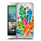 HEAD CASE DESIGNS GEOMETRIC FEATHERS HARD BACK CASE FOR HTC ONE E8 LTE