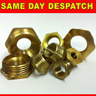BRASS BSP REDUCING BUSH FITTING HEX NEW VARIOUS SIZES