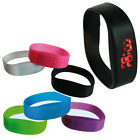 BLINK TIME WATCH BAND BRACELET SILICONE LED TOUCH STRAP COLOURFUL DIGITAL RUBBER