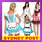 Alice in Wonderland Red Queen of Hearts Poker Maid Halloween Fancy Dress Costume