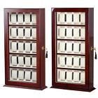 Deluxe 20 Slot Watch Display Case Wood + Acrylic Top Show Stand Holder Organizer