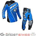 Wulf Crossfire Adult Motocross Kit Blue Jersey Trousers Trials MX Pants Enduro