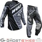 Wulf Crossfire Adult Motocross Kit Black Armour Strech Panels Suit Buckles Race