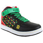 Drity Money Kush Hi Top Trainers Shoes Weed Hip Hop Street Rasta Faux Leather