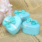 12/60PCS Blue Heart Favors Candle Tin Bridal Shower Wedding Birthday Candy Boxes