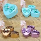 60PCS Heart Tin Favor Boxes Wedding Shower Party Gift Candy Box Gold/Blue/Purple
