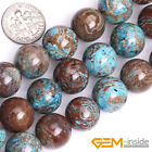 "Blue Crazy Lace Agate Gemstone Round Beads For Jewelry Making 15"" 4mm 6mm 8mm"