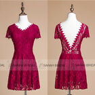 SALE Short Cocktail Party Dresses Lace Backless Evening Prom Gown Clubwear New
