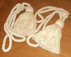 NEW Cream Rope Tassle Curtain Tie Backs Matching Pair 2 Tassel Tiebacks Tassled