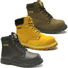 MENS SAFETY BOOTS STEEL TOE CAP LACE UP ANKLE WORK SHOES LEATHER TRAINERS SIZE