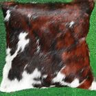 New Cowhide Pillow Cover Hair On Leather Patchwork Cushion Cow Hide Western PL4