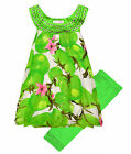 Girls Fruit Print Legging Dress Set Kids Summer Party Outfit New Age 2-10 Years