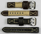 18mm Nylon denim watch strap TOUGH THICK fabric canvas band brown black blue
