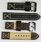 24mm Nylon denim watch strap TOUGH THICK fabric canvas band brown black blue