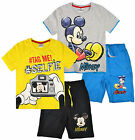 Boys Disney Mickey Mouse T Shirt Top Shorts Set Kids Outfit Age 3 4 5 6 8 Years