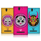 HEAD CASE DESIGNS ANIMAL SUGAR SKULLS CASE FOR SONY XPERIA C3 D2533