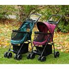 Pet Gear new Happy Trails Lite NO-ZIP Stroller in Boysenberry or Pine Green