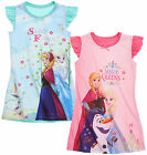 Girls Disney Frozen Nightdress Kids Elsa Anna Nightie New Age 4 5 6 8 10 Years