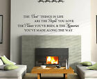 The Best Things In Life Love.. Wall Art/decal Quote Sticker - Kitchen/living!!!!
